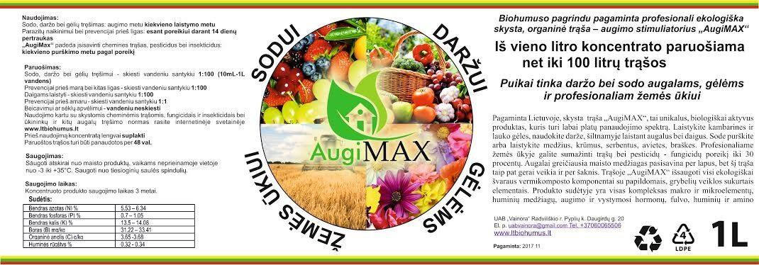 """10 l. """"AugiMAX"""" mikrobiologinis preparatas (Siunčiama Omnivos paštomatu)"""